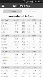 Football NFL Schedules Ad Free screenshot 5
