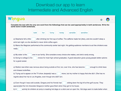 Advanced English with Wlingua screenshot 8