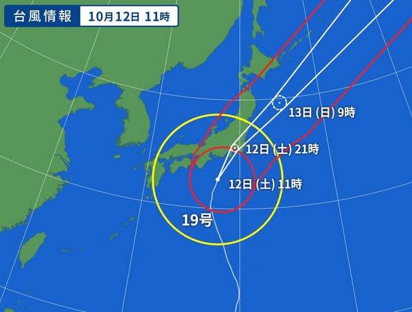 2019台風19号 到着前