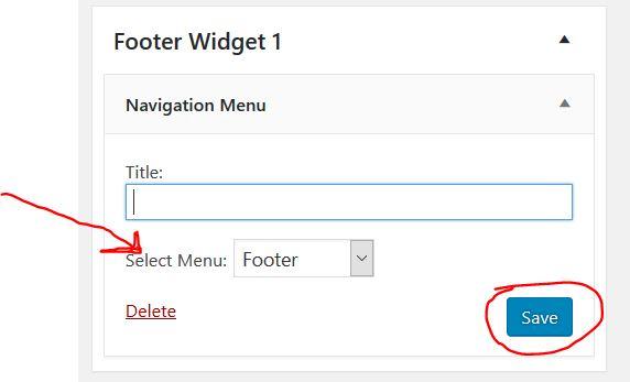 edit footer widget