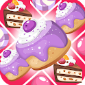 Three in a row cakes icon
