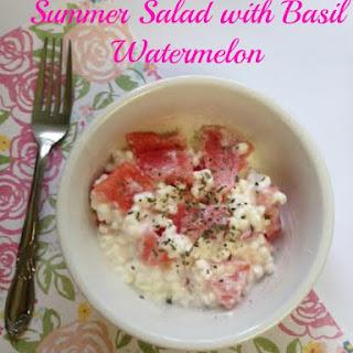 Basil and Watermelon Summer Salad