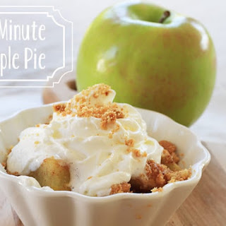 Microwave Single Serve Apple Pie Recipe
