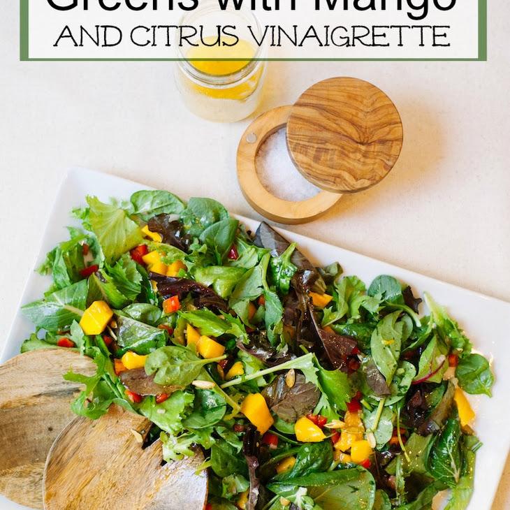 Greens with Mango and Citrus Vinaigrette