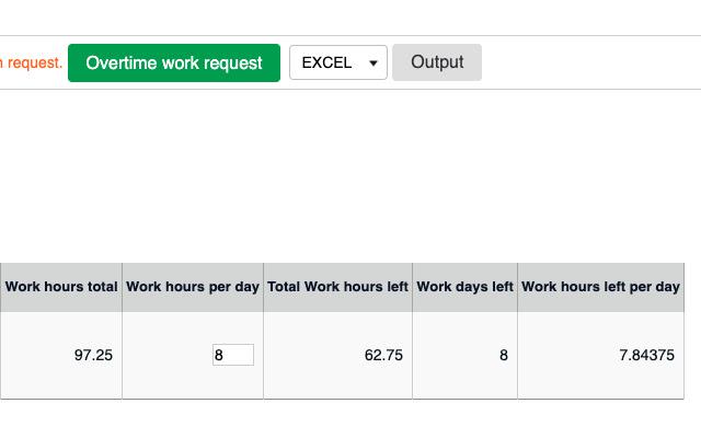 KOT work time counter