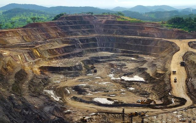 An open pit copper and cobalt mine in the DRC. Picture: REUTERS