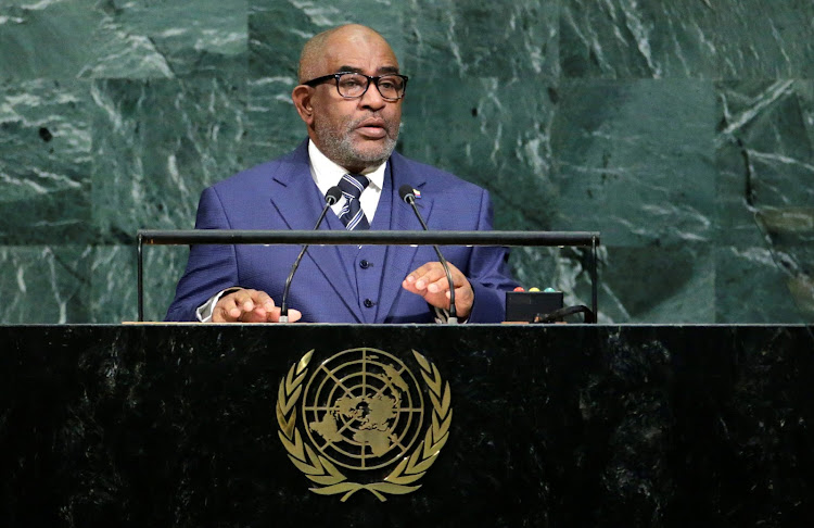 Comoros president Azali Assoumani addresses the 72nd United Nations General Assembly at UN headquarters in New York, US, a year ago. (File photo)