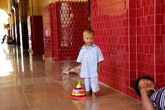 Photo: Year 2 Day 55 -  Little Lad in Mahamuni Paya