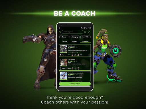 GetGood - Overwatch / LOL Coach Listings & LFG Preview 2