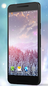 Romantic Snow Live Wallpapers screenshot 0