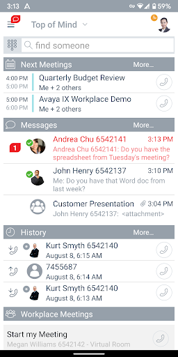 Avaya IX Workplace screenshots 2