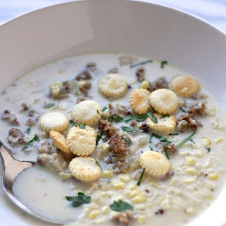 Crockpot Sweet Corn and Sausage Chowder