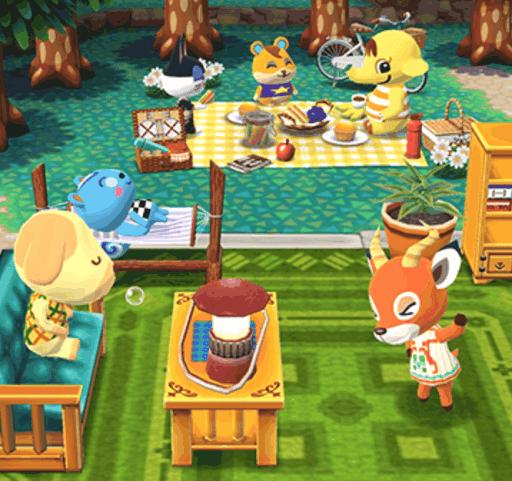 キャンプ場に沢山のどうぶつ