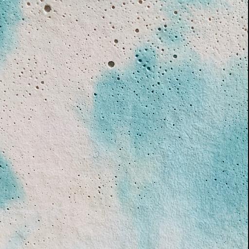 béton marbré blanc turquoise