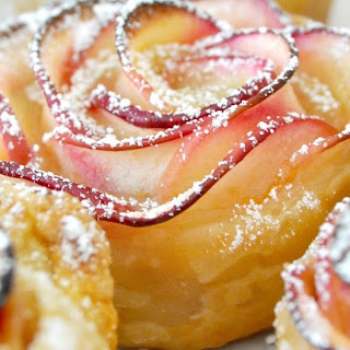 Puff Pastry Chocolate Flowers.