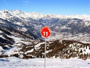 Photo: Vue d'une piste de la station de Risoul, dans les Alpes du Sud.