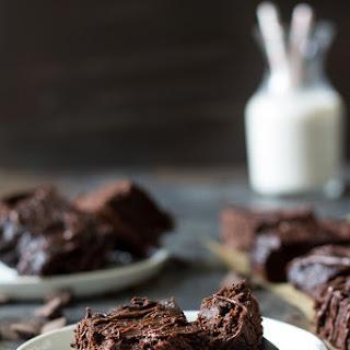 Triple Chocolate Paleo Sweet Potato Brownies.