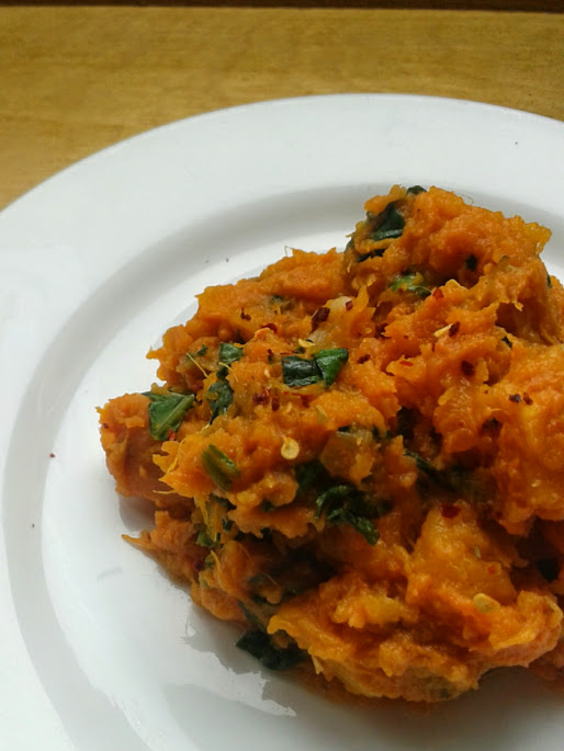 Welcome to Mommyhood: roasted squash mash with spinach