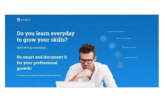 EnGrip: Track & showcase your online learning