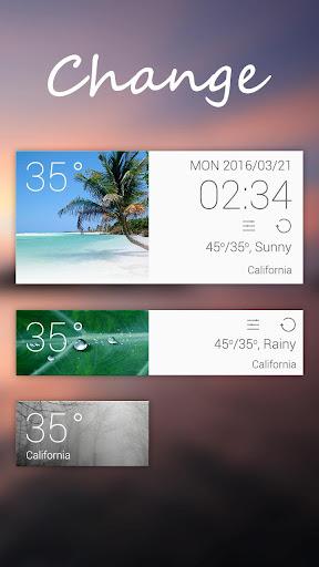 Change GO Weather Widget Theme