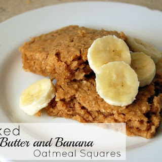 Baked Peanut Butter and Banana Oatmeal Squares