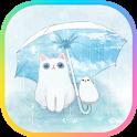 카카오톡 테마 - 보들캣 비 오는 날 icon