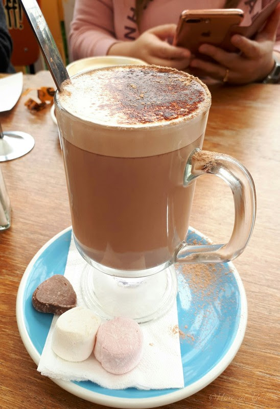 hot chocolate with marshmallows on the side
