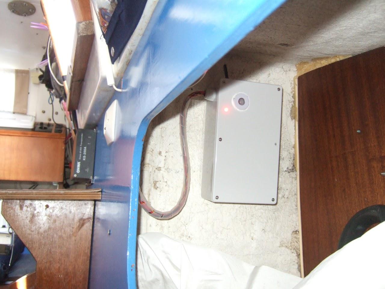 Centrale d'alarme sur un voilier