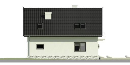 Dom przy Alabastrowej 31 - Elewacja tylna