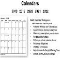 Calendar US 2018 2019 2020 2021 2022 icon