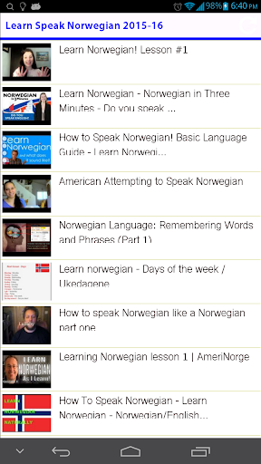Learn Speak Norwegian 2015