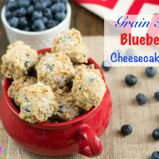 Grain Free Blueberry Cheesecake Bites