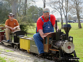 Photo: Steamer Bill Smith and Vance Nickerson     HALS Chili Fest Meet 2014-0301 RPW