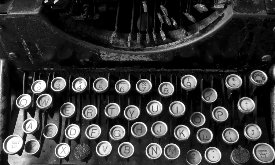 type writer keys by Steven Faucette - Artistic Objects Antiques ( typewriter, antique, time scars )