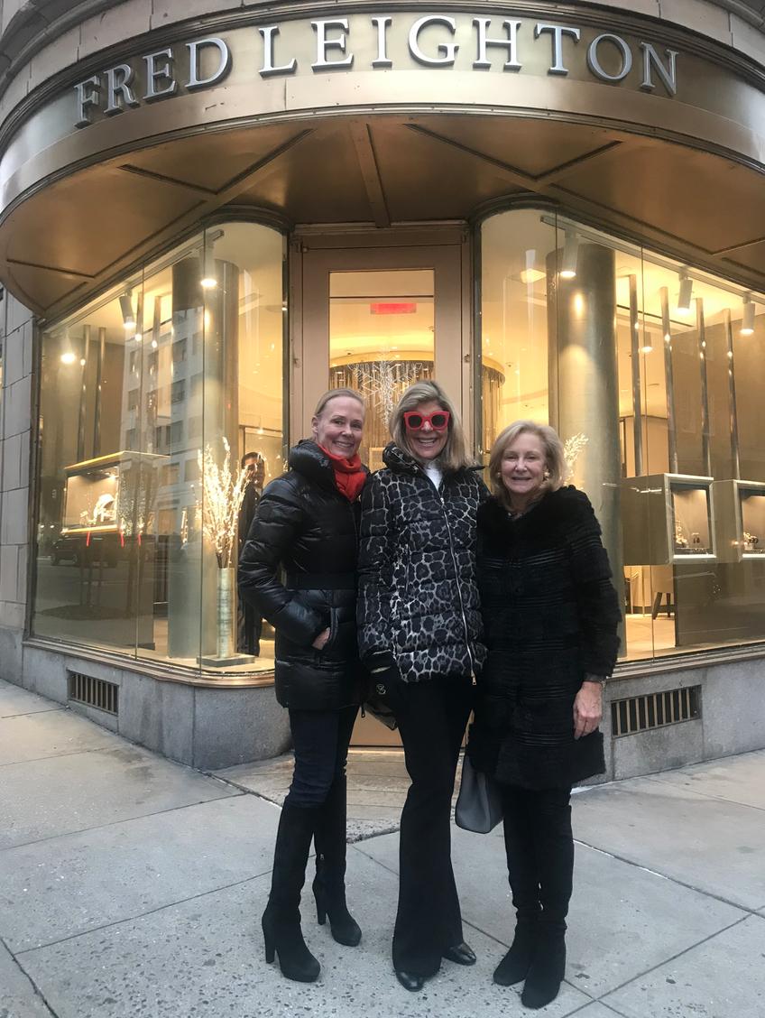Hilary Dick, Jamie Gregory & Karen Klopp, shop Miracle on Madison for Society Memorial Sloan Kettering Cancer Center.