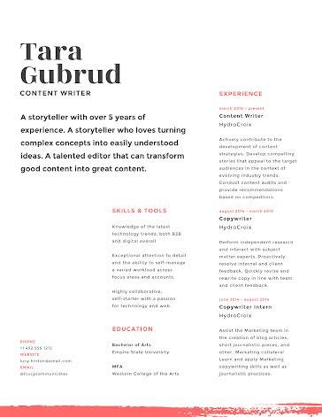 Tara E. Gubrud - Resume Template