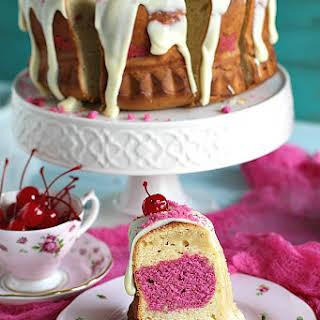 Cherry Almond Ricotta Bundt Cake.