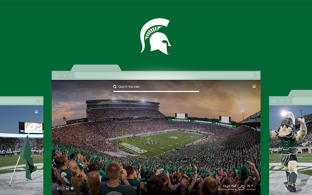 OFFICIAL Michigan State HD New Tab Theme