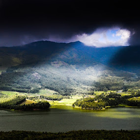 wherever you go, the blessings of god always follow you by Jayanta Roy - Landscapes Mountains & Hills