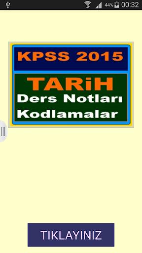 KPSS Tarih Ders Notları