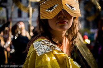 Photo: chciwosc miasta, prostest, parada, zloto, cecylia malik, jacek taran;