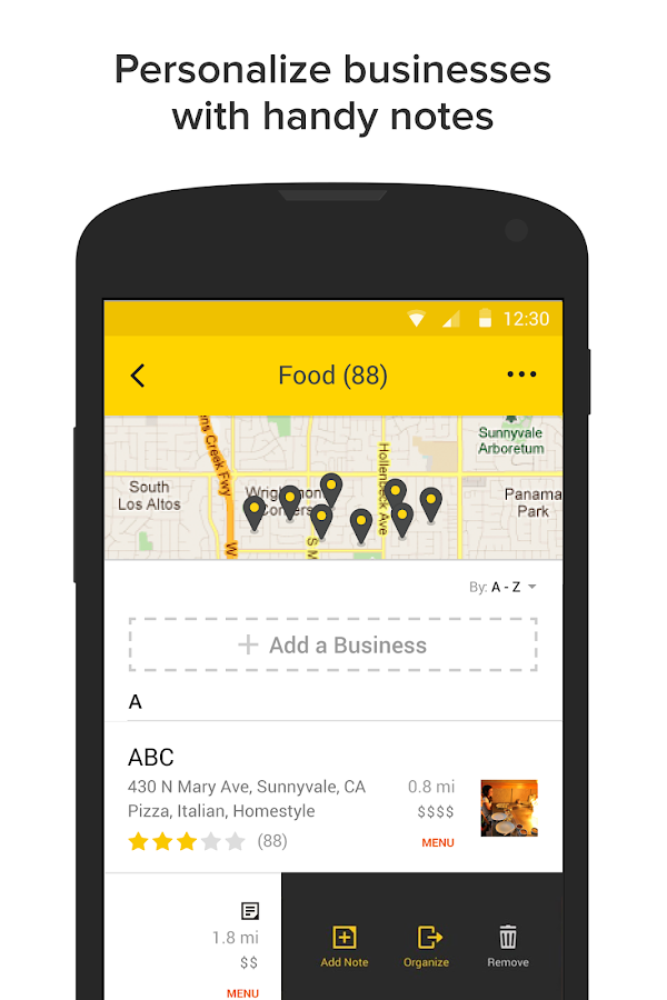 YP - Yellow Pages local search- screenshot
