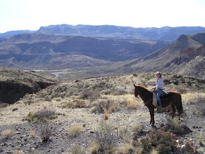 Photo: Big Bend Ranch State Park viewing of the Rio Grande and Madera Canyon.