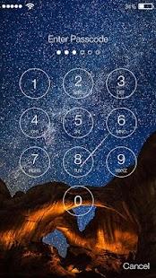 Meteor Rain Lock Screen - náhled
