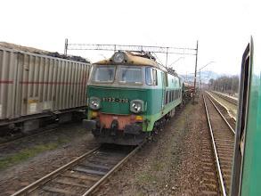 Photo: Wałbrzych Fabryczny: ET22-270 ze składem towarowym.