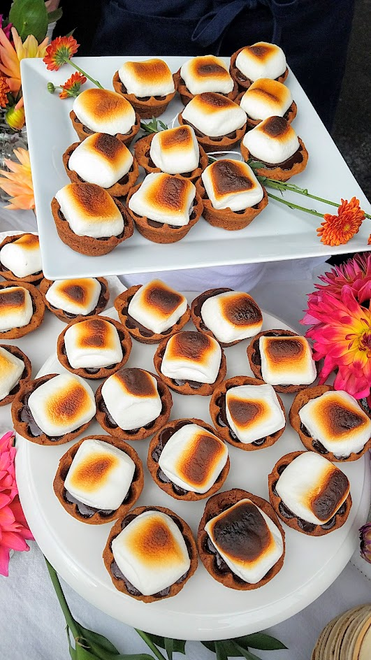 Annie Portlock of Annie Pies offered 3 mini pies at Feast PDX 2016 Go Get You Some Picnic: these are the S'mores (scratch graham, chocolate ganache, toasted marshmallow)