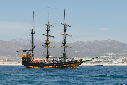 Buccaneer Queen.jpg - The Buccaneer Queen sets sail in Cabo.