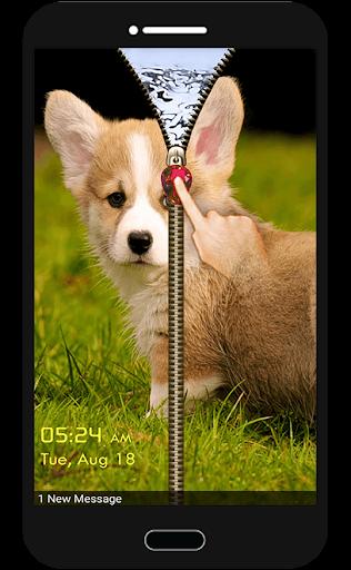 子犬デイジー犬の画面のロック