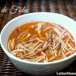 Sopa de Fideo {noodle soup}.