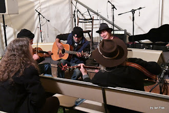 Photo: late session in the Open Mic Tent